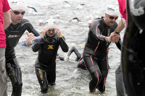In pictures: Ironman swim at Pennington Flash