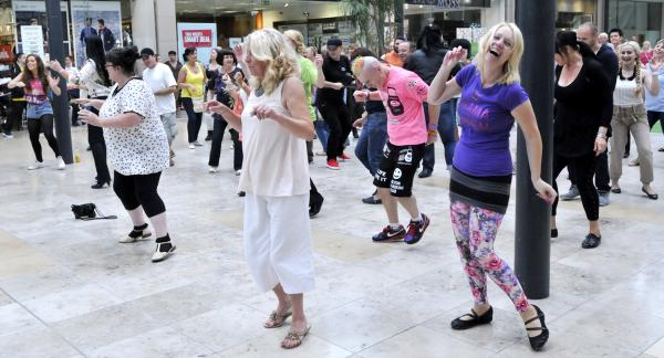 VIDEO: Flash mob hits Market Place shopping centre 'to promote Bolton'
