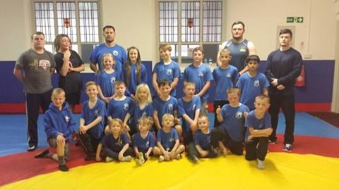COMMONWEALTH GAMES WISHES: Bolton Olympic Wrestling Club Craig Pilling and Louisa Porogovska