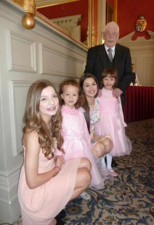 Richard Sutherland with granddaughters Ella, Sophie, Erin and Amabel