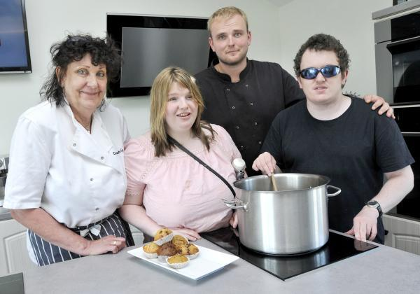 From left, Heliene Godding, patisserie chef, Hannah Day, Robert Nelson, head chef and Craig Slater