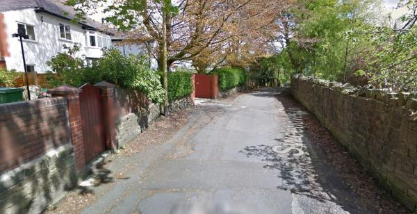 Sweetloves Lane, Sharples, where vandals smashed up cars with hammers. Picture from Google Maps.