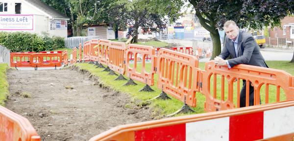 Access footpath goes through graveyard at new Little Lever Tesco