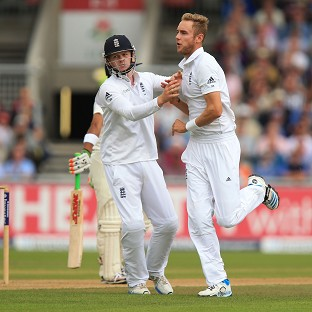 England's Stuart Broad took six wickets against India on day one