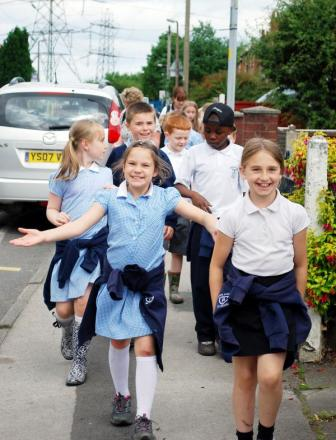 Spindle Point Primary School's walk for children's hospital