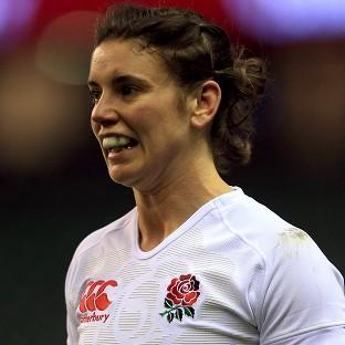 Sarah Hunter scored England's only try of the match