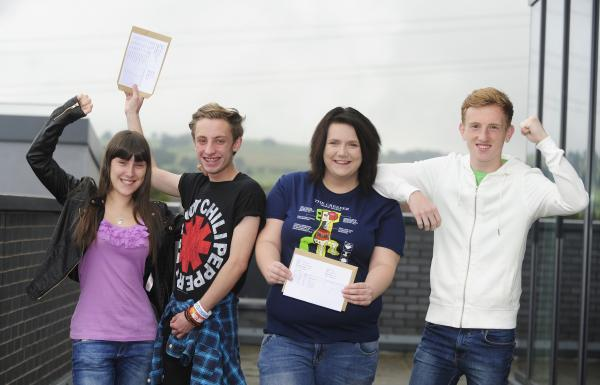 St Catherine's pupils, from left, Emma Gagg  Peter Burke, Opel Cadman  and Scott Lock