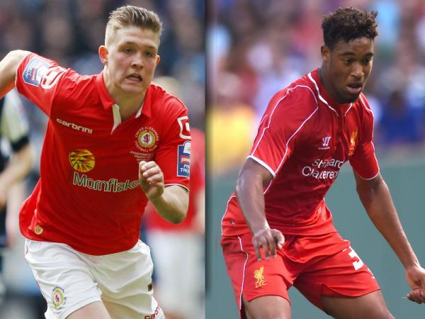 Max Clayton, left, and Jordan Ibe