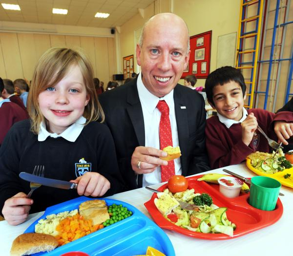 Bolton is on track to serve up free school dinners