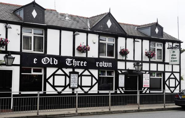 Ye Olde Three Crowns where the attack took place