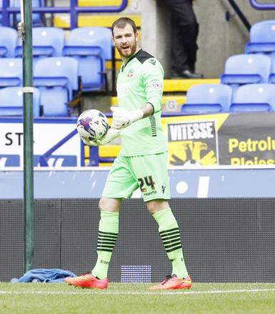 RETURN VISIT Wanderers keeper Andy Lonergan heads back to Leeds