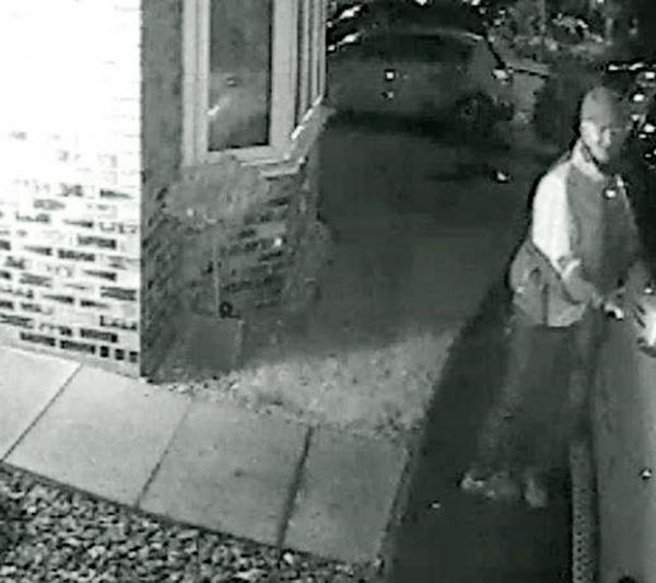 The CCTV image released in a bid to help identify the man who was seen trying car doors in Horwich