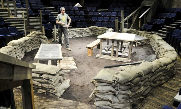 20,000 litres of soil used to transform Octagon into World War One trench.