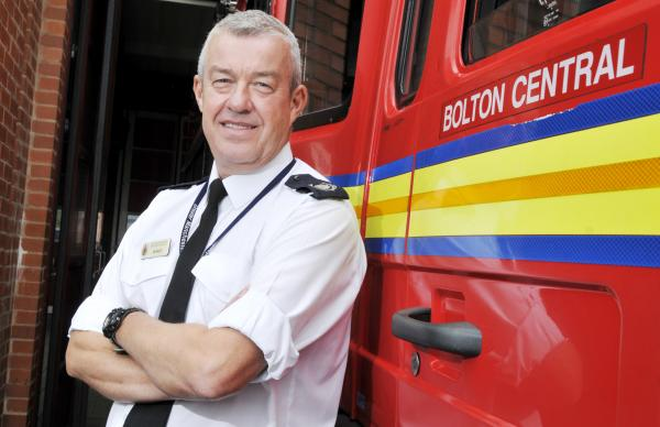 Ian Bailey, fire service borough manager for Bolton