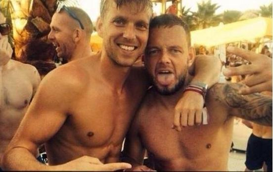 The image posted on social media of Jay Spearing in Ibiza