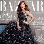 The Bolton News: Jessica Chastain appears on the cover of the latest issue of Harper's Bazaar magazine (David Slijper/Harper's Bazaar)