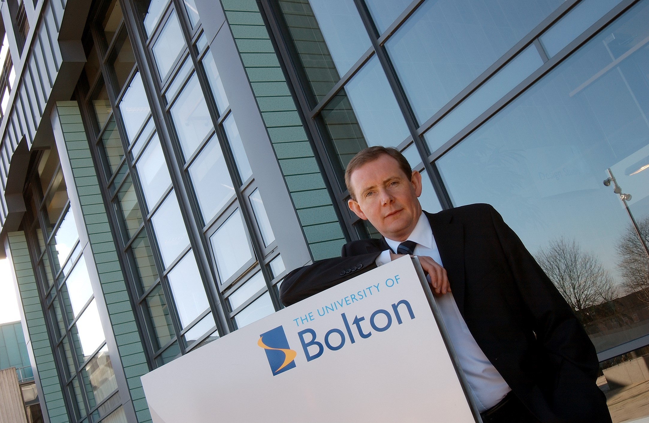 Professor George Holmes, vice chancellor of The University of Bolton