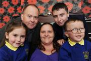 The Syddalls, Kelsey aged six, Jamie, Fiona, Alex aged 14 and jamie aged four. Fiona Syddall's husband and youngest son, both called Jamie, have a rare chromosome disorder which was diagnosed last December. Theyre putting on a Christmas party to raise mon