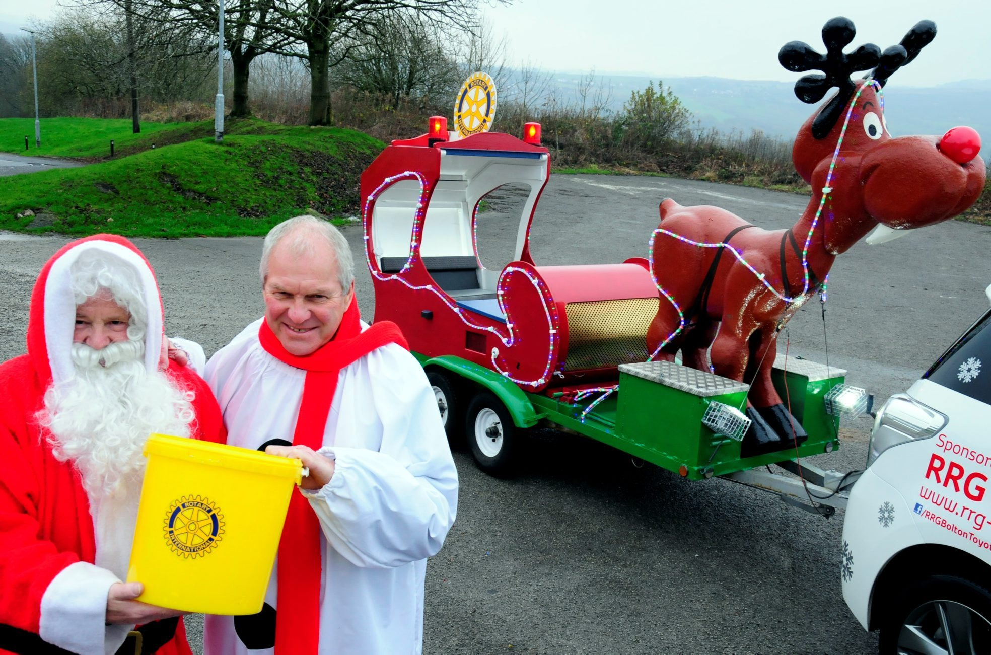 SANTA: Father Christmas with Jeff Hibbert from the Last Drop Village Hotel and Spa in 2014