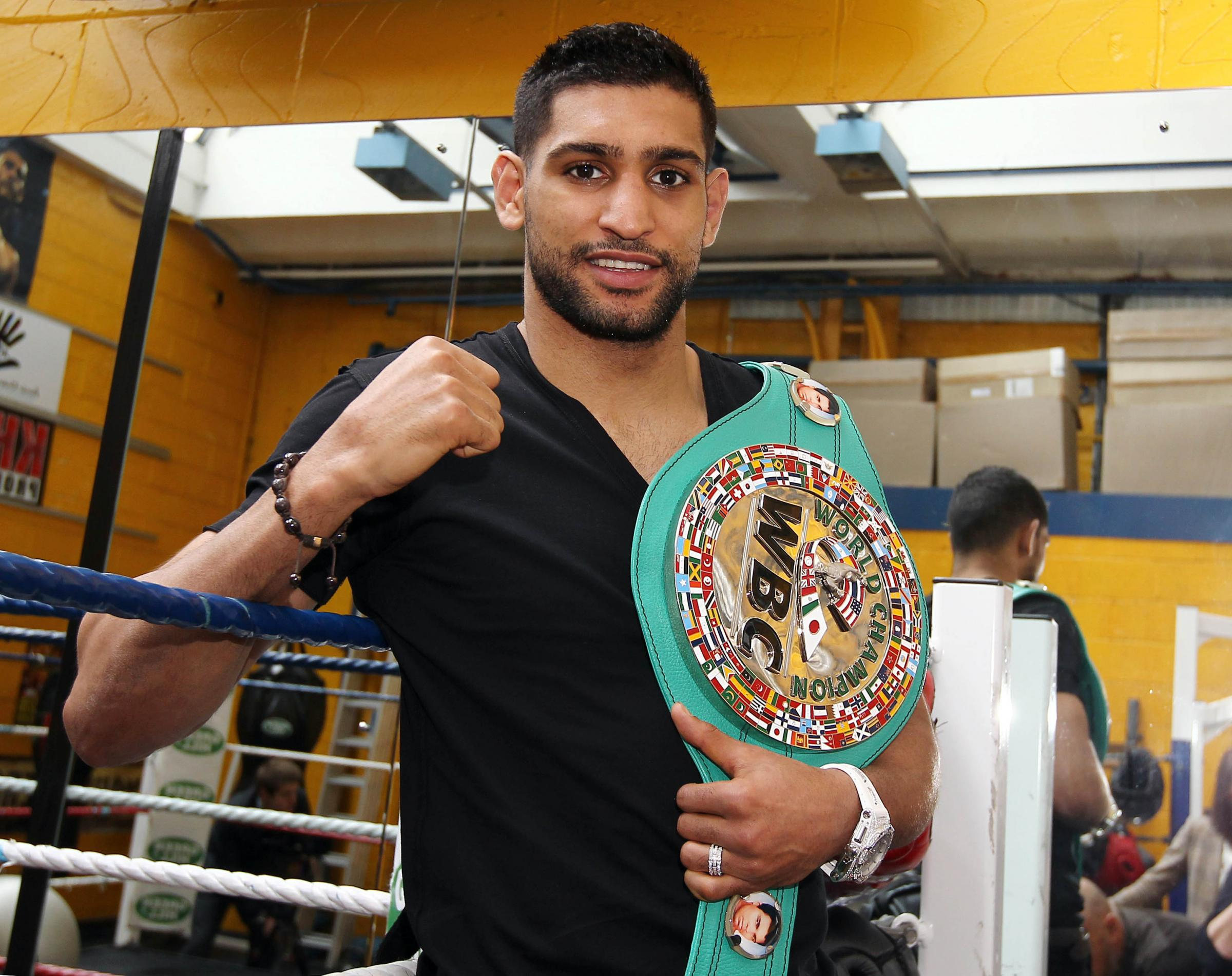 BIG TEST: Amir Khan is taking on Saul Canelo Alvarez in May