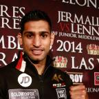The Bolton News: Amir Khan at the MGM Grand ahead of his showdown with Devon Alexander