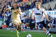 Bolton's Tim Ream, pictured right, in action against Leeds United's Luke Varney