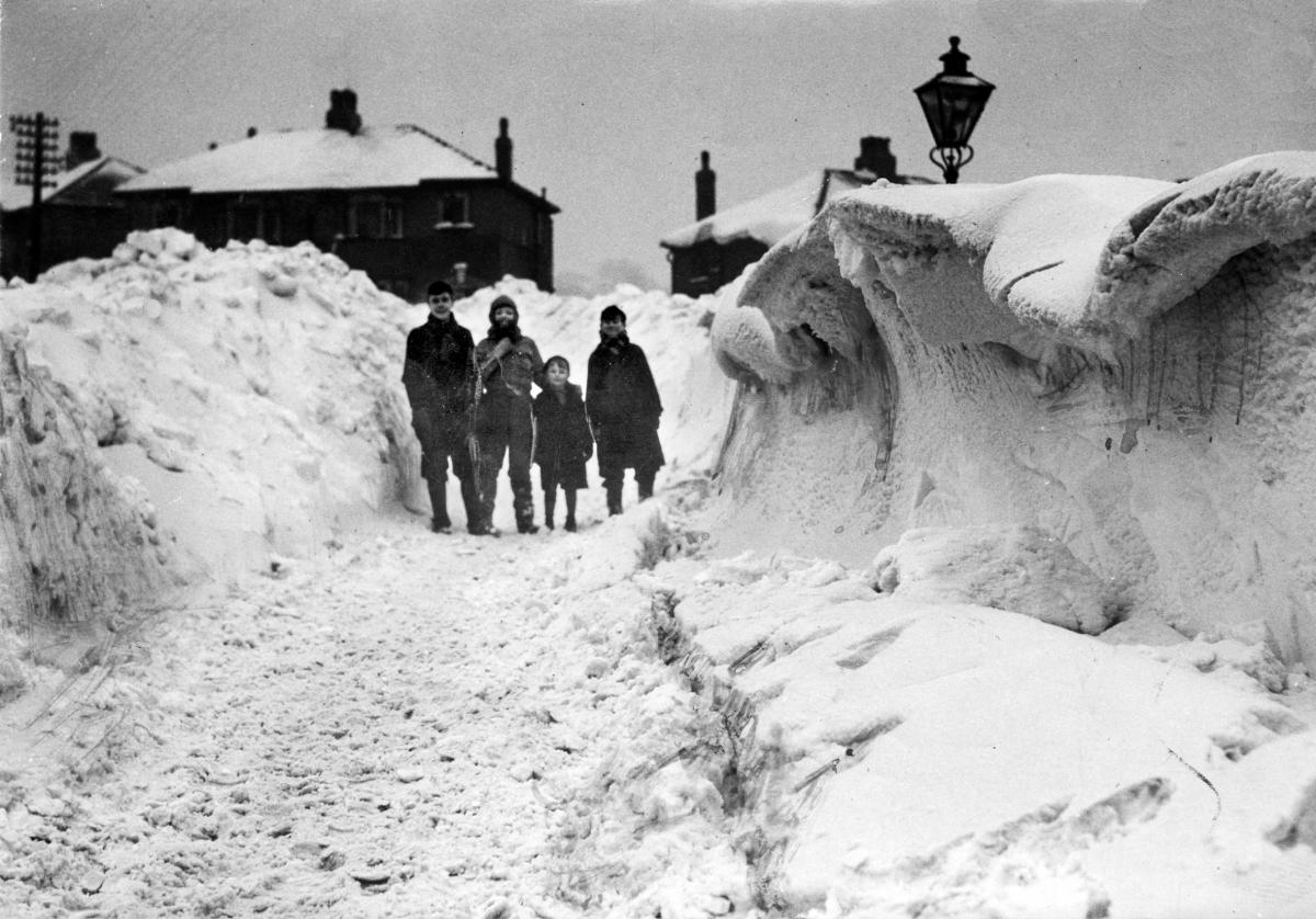 Old photos show heavy snow in Bolton in winter of 1940   The Bolton News