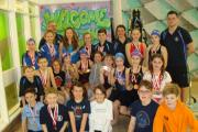 SUCCESS: Members of the Tyldesley Swimming team