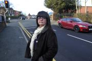 Resident Denise Bridgford who is annoyed about the yellow lines