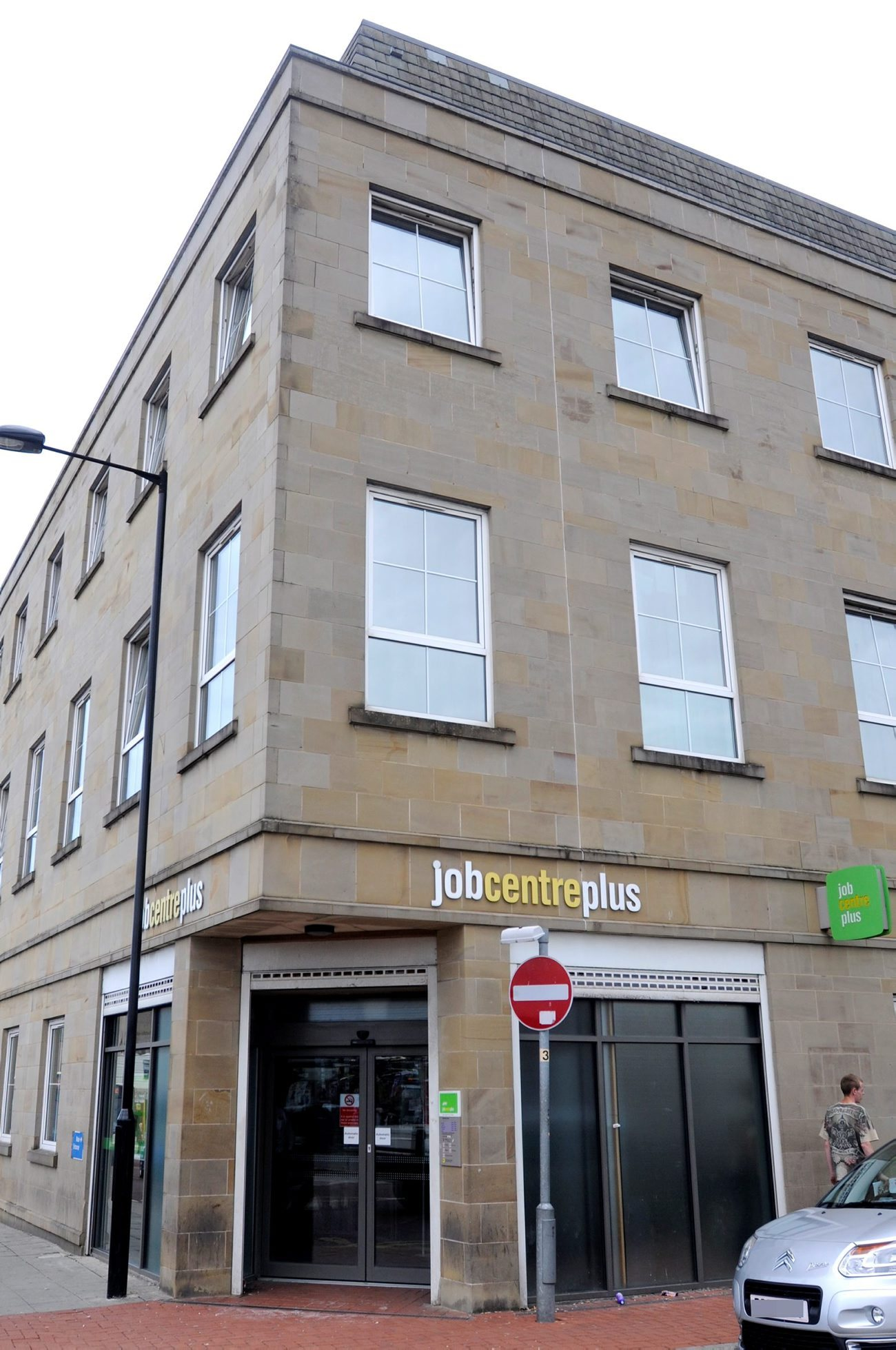 The Jobcentre plus office at Elizabeth House in Black Horse Street, Bolton