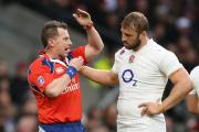 England skipper Chris Robshaw talks to referee Nigel Owens during the Six Nations clash with France last weekend