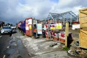 WORK: The structure of the new Morrisons store on the site of the former Greenwood Arms, in Chorley New Road, Horwich
