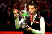 Mark Selby celebrates winning last year's World Snooker Championship in Sheffield – but who will be this year's king?