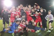 SUPER SEASON: Atherton Colls celebrate their title victory to which they are looking to add the Hospital Cup tonight