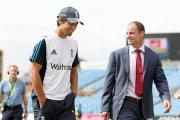 ALLIES: Alastair Cook, left, with former captain Andrew Strauss