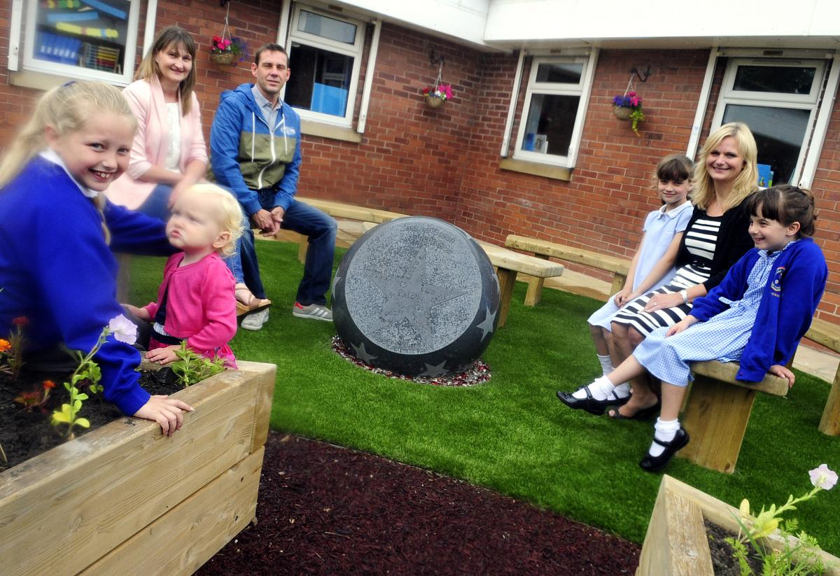 PICTURED: Mytham Primary School opens memorial garden for brave ...