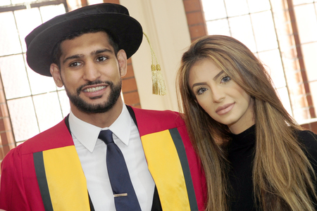 Amir Khan and his wife Faryal Makhdoom Khan in happier times