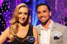 BATTLE: Corrie star Cath Tyldesley and her fiancé Tom Pitfield will try and win up to £30,000 for charity on All Star Mr and Mrs