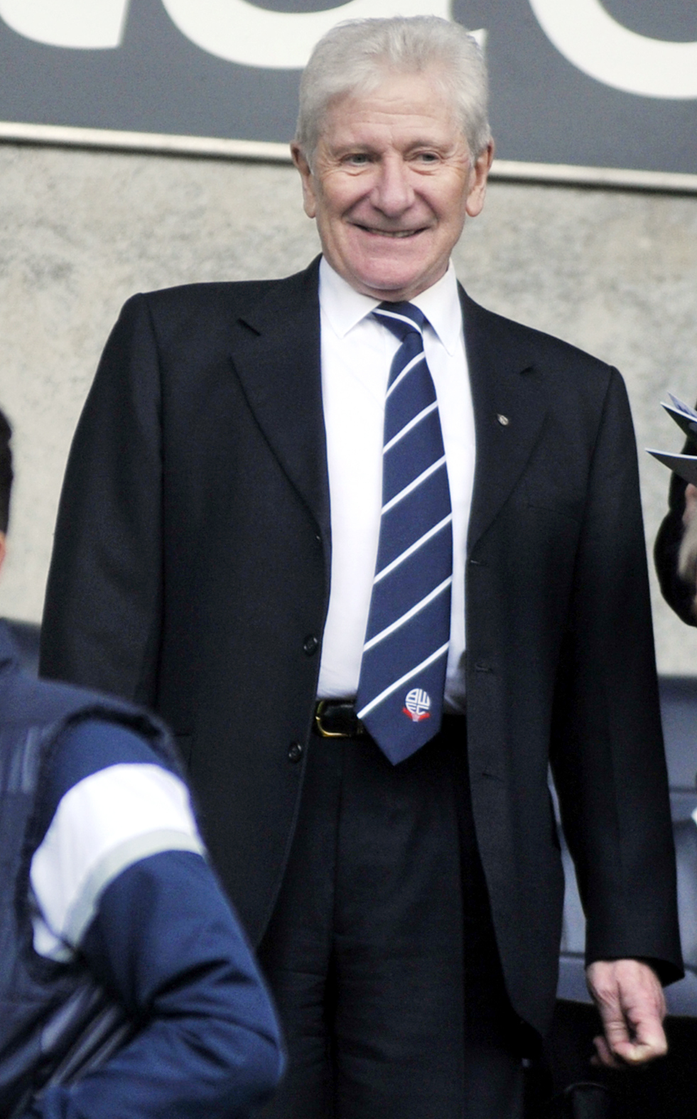Former Bolton Wanderers owner, now life president, Eddie Davies