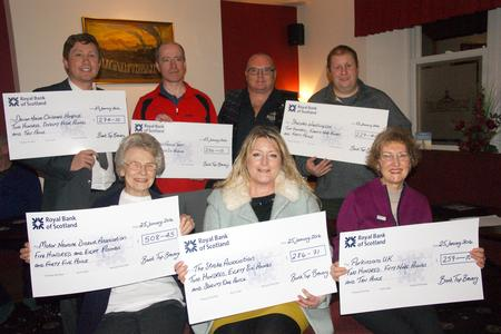Six charities share a serving of brewery's �1,800 fundraising