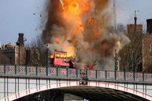 Londoners aren't too happy about the bus explosion staged for a Jackie Chan film