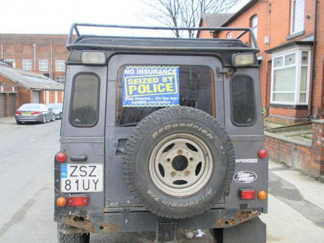 Polish 4x4 seized in Bolton for lack of UK number plates and