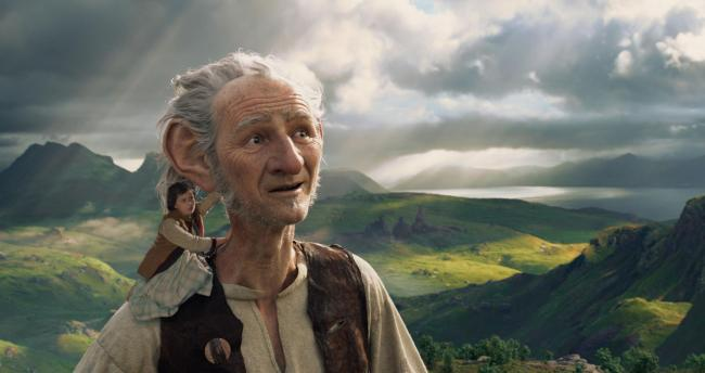 In Disney's fantasy-adventure THE BFG, directed by Steven Spielberg and based on Roald Dahl's beloved classic, a precocious 10-year old named Sophie (Ruby Barnhill) befriends the BFG (Oscar (TM) winner Mark Rylance), a Big Friendly Giant from Gian