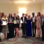 The Bolton News: AWARDED: Members of CATS Youth Theatre at the GMDF awards