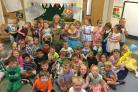 FOND FAREWELL: Children say goodbye to much loved Denise Cox of of Grosvenor Nursery School