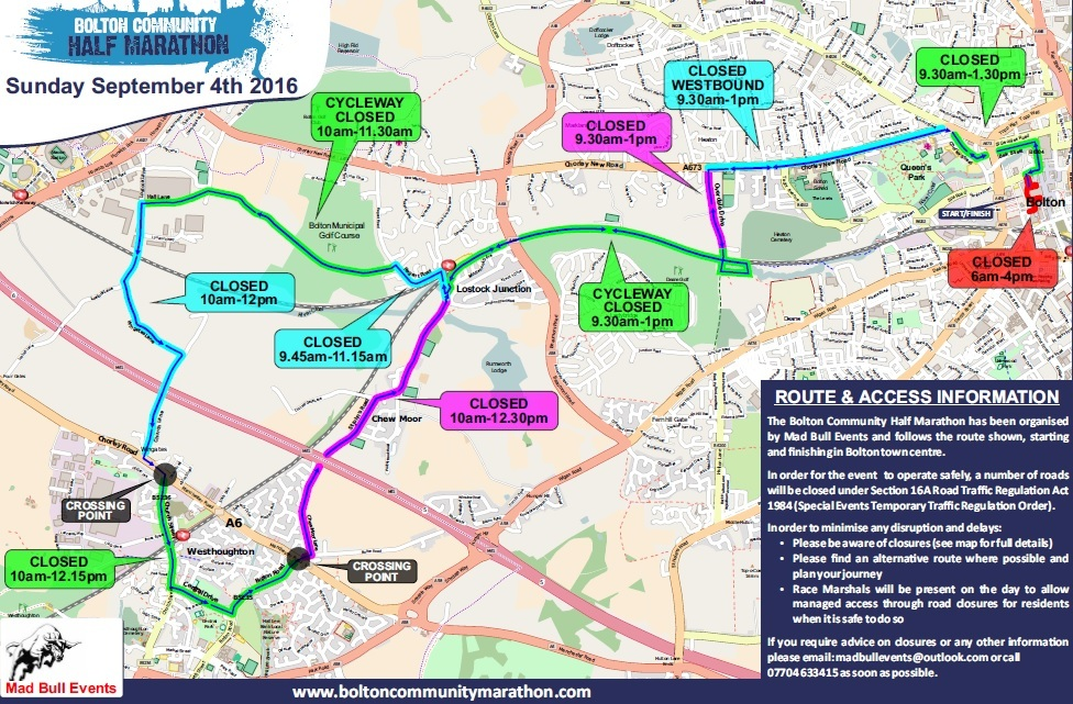 MAP 700 runners to tackle first first half marathon on Bolton