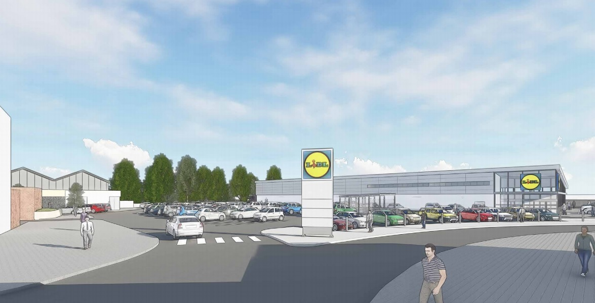 Concept designs for the new Lidl store in Radcliffe. Pictures: WCEC Architects.