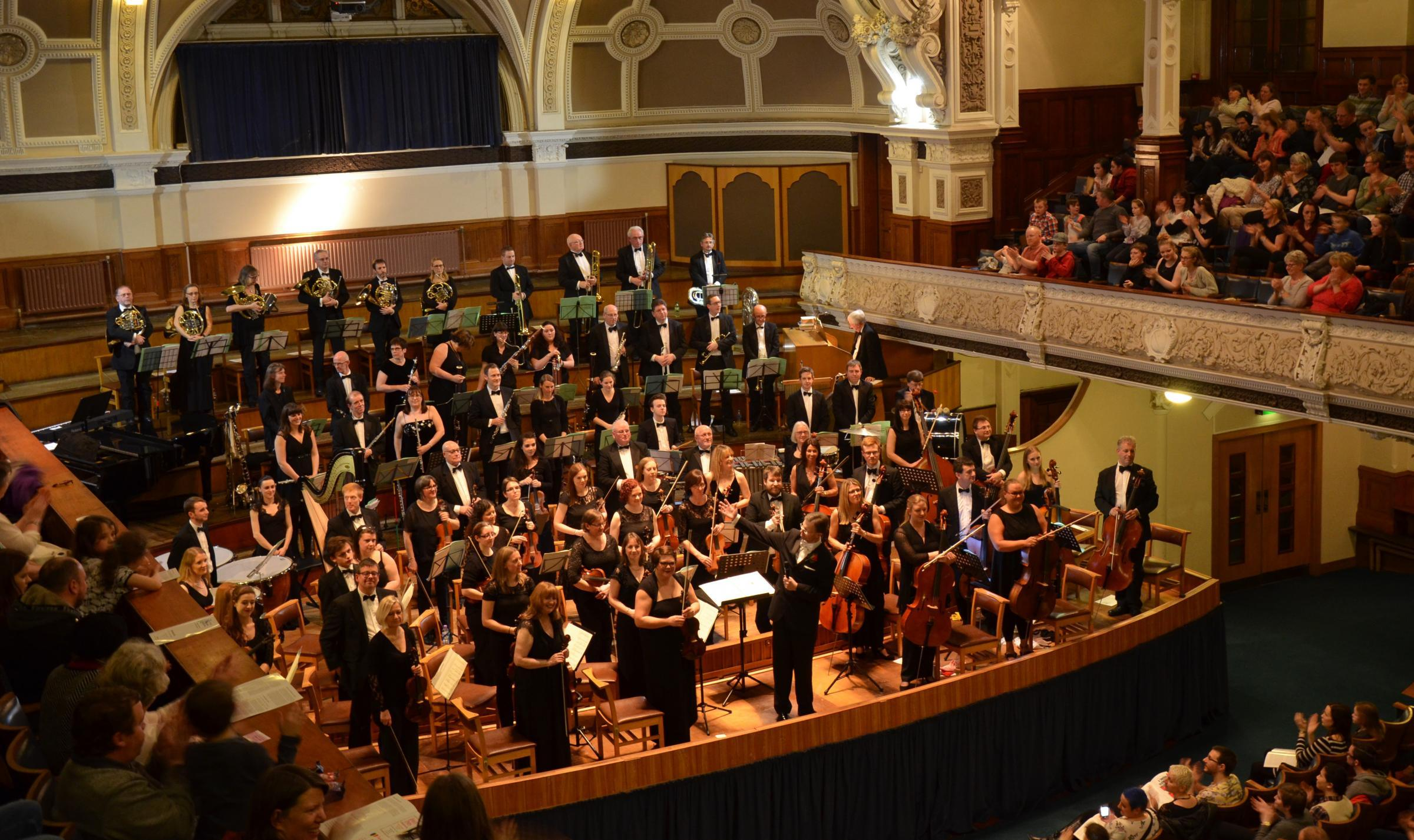 Bolton Symphony Orchestra performing in 2016.