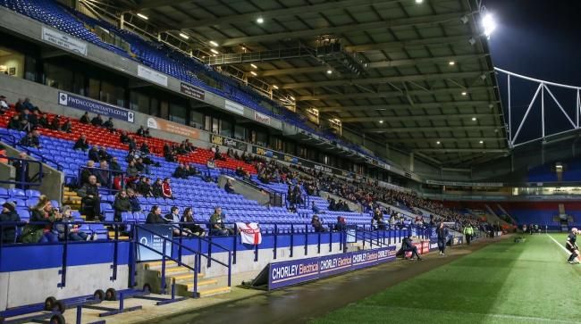 SPARSE: The Checkatrade Trophy first round clash against Blackpool hardly enthused the Wanderers faithful