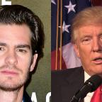 The Bolton News: Donald Trump needs a kiss to calm down, actor Andrew Garfield says